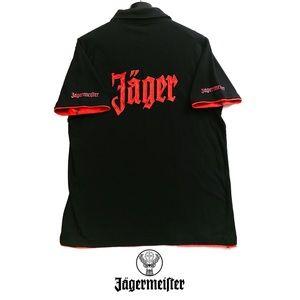 Jägermeister Official Men's Polo - Black & Orange